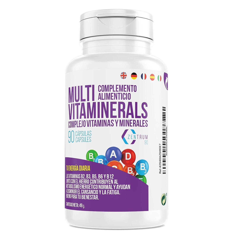 Complejo vitamínico con minerales, vitamina C, vitaminas B2, B3 ...