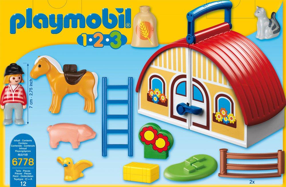 6778 ferme transportable de playmobil. Black Bedroom Furniture Sets. Home Design Ideas