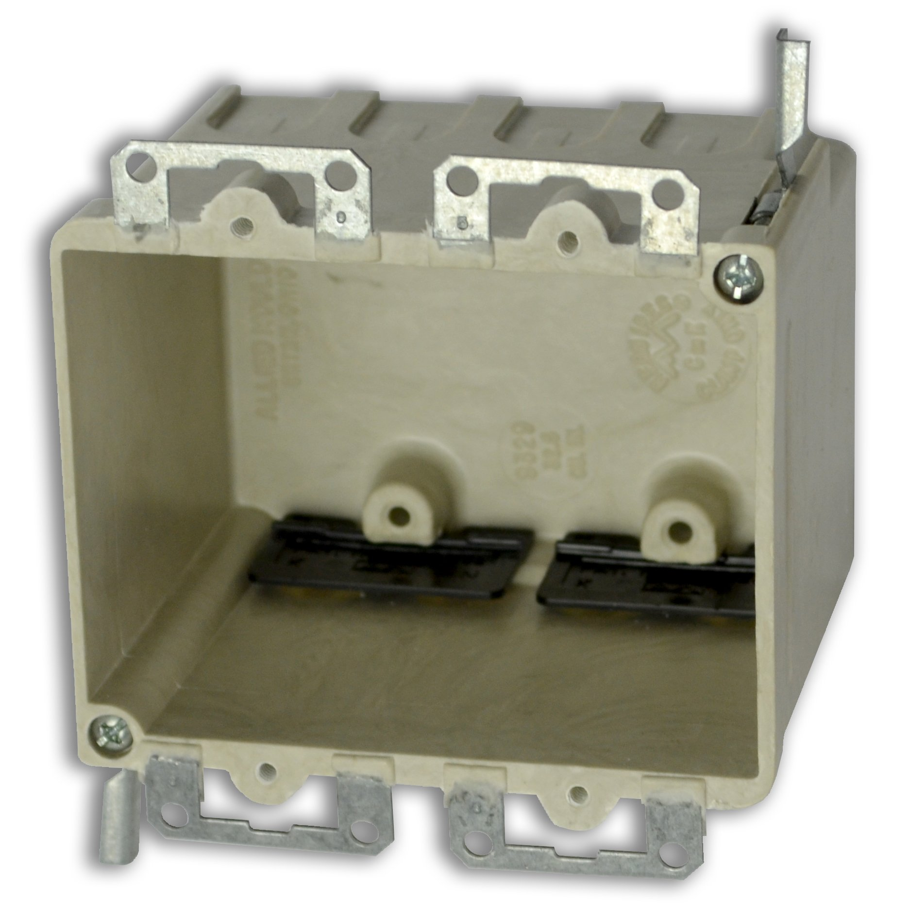 Allied Moulded H9329=EWK Two Gang Fiberglass Box
