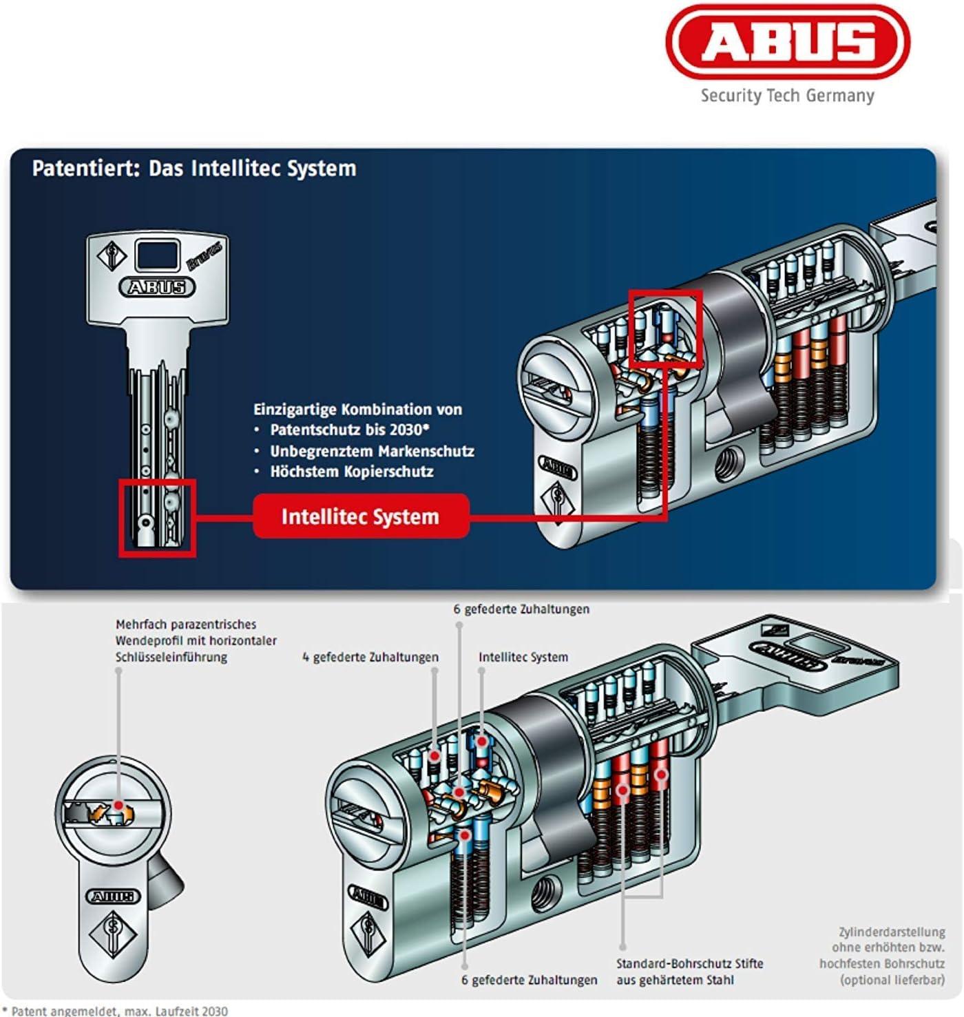 ABUS Bravus3000 Sicherheits-Schließzylinder Doppelzylinder 50//60mm Individual