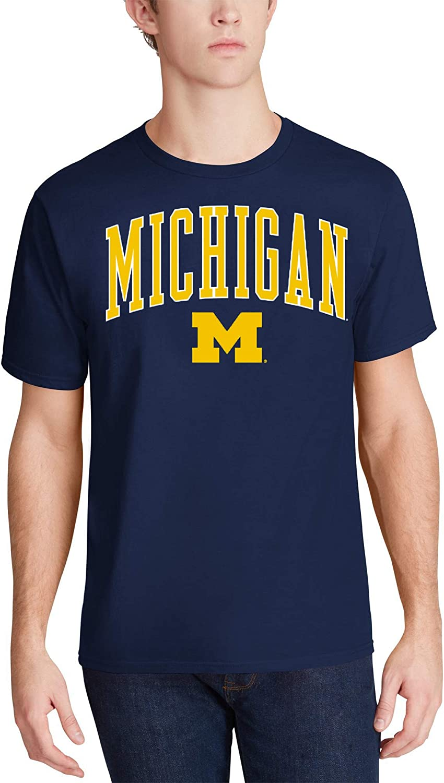 Profile Varsity University of Michigan Mens Big /& Tall Arch Logo T-Shirt