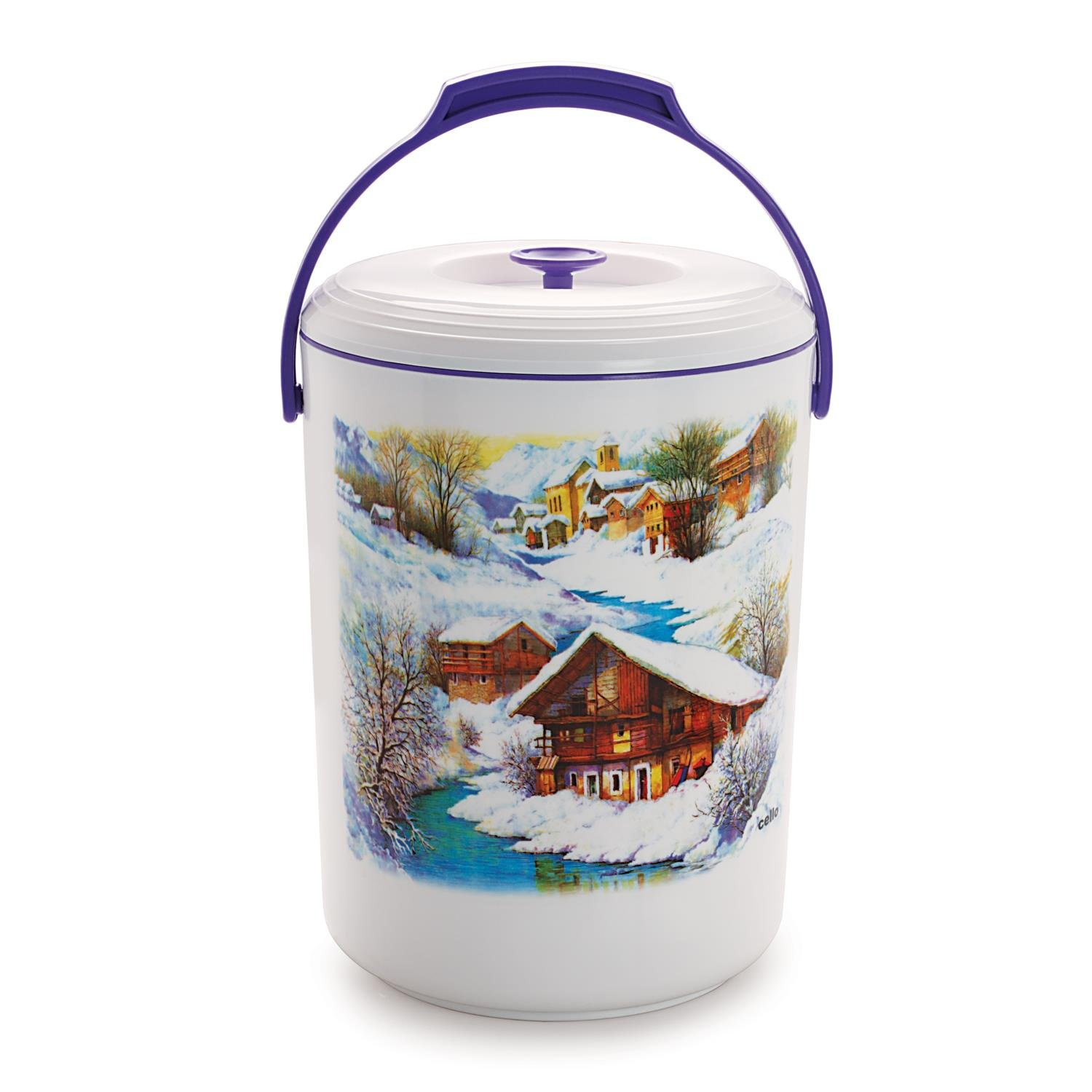 Cello Mega Hot 5 Container Lunch Pack, Violet