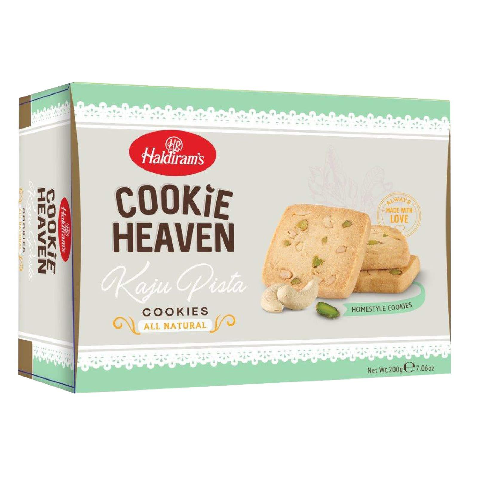 Haldirams Haldiram's Cookie Heaven Kaju Pista - 7.06 Oz,, ()