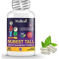 Maximum Natural Height Growth Formula - NuBest Tall 60 Veggie Capsules - Herbal Peak Height Pills - Grow Taller…