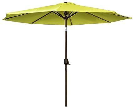 International Concepts Steel Pole Market Umbrella, 9 Feet, Yellow