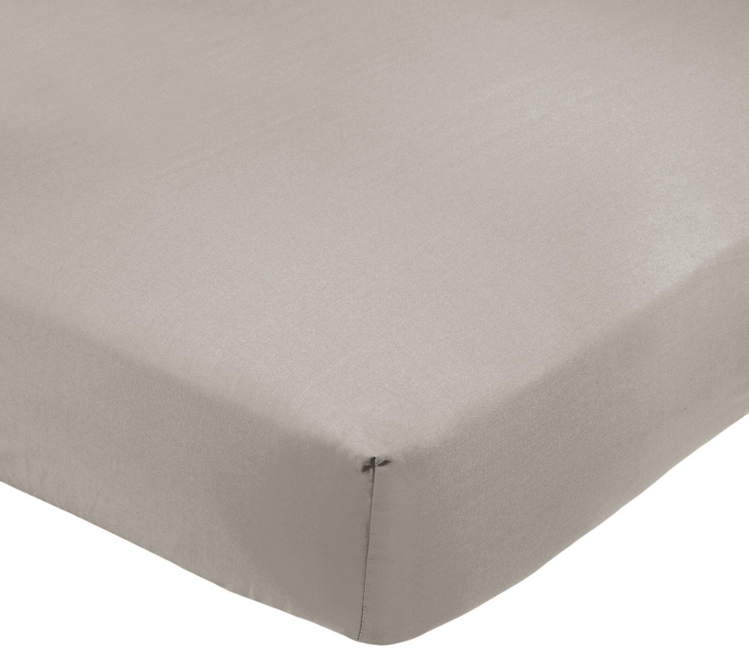 AmazonBasics – Lenzuolo matrimoniale con angoli, Policotone 200 fili, grigio – 160 x 200 x 30 cm Prezzi offerte