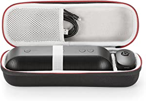 for Apple Dr. Dre Beats Pill+ Pill Plus Bluetooth Portable Wireless Speaker Hard Case Travel Carrying Storage Bag. Fits USB Cable and Wall Charger-Black