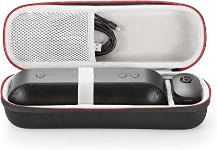 for Apple Dr. Dre Beats Pill+ Pill Plus Bluetooth Portable Wireless Speaker  Hard Case Travel Carrying Storage Bag. Fits USB Cable and Wall