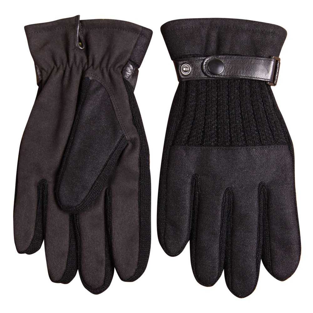 Warmen Men's Touchscreen Texting Gloves Stretch Nano Tech - Genuine Leather Belt - Super Warm