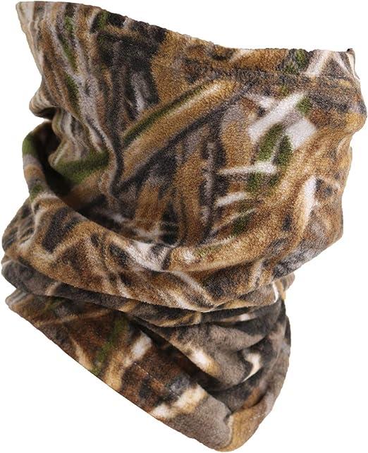 Camoflague Brown Fleece Scarf