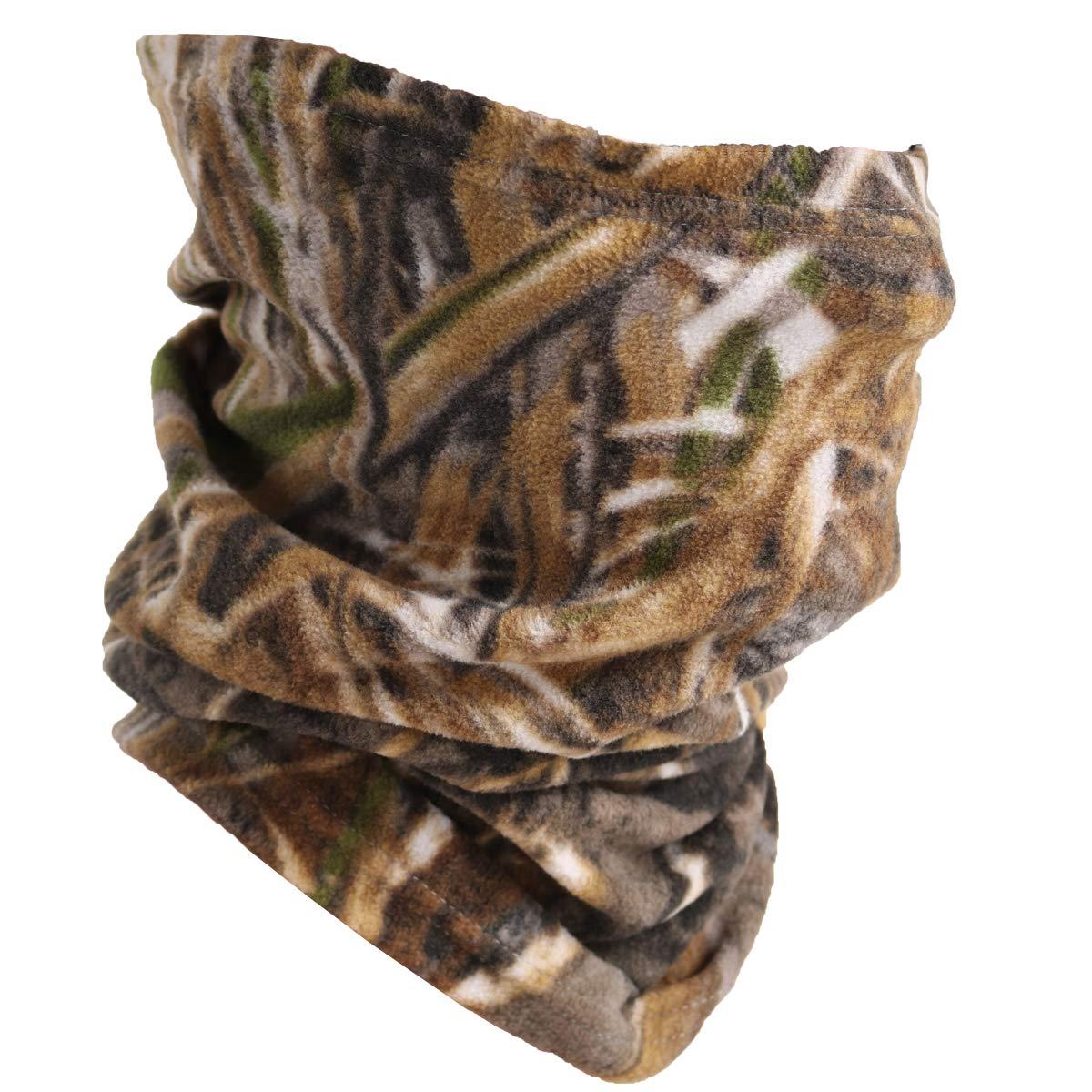 Fleece Neck Warmer/Neck Gaiter - Running Ear Warmer Headband Ski Mask for Women one)