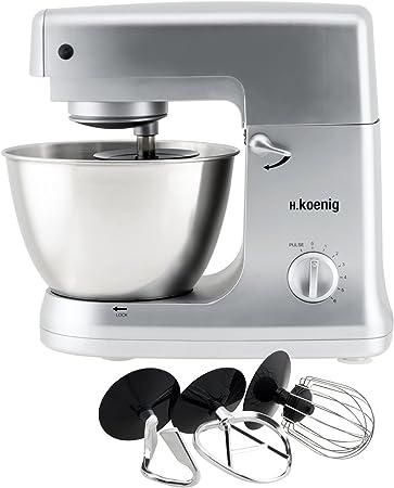 H.Koenig KM60s Robot de Cocina multifunción, batidora amasadora ...