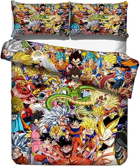 Copripiumino Dragon Ball.Set Di Biancheria Da Letto Motivo Dragon Ball Copripiumino E