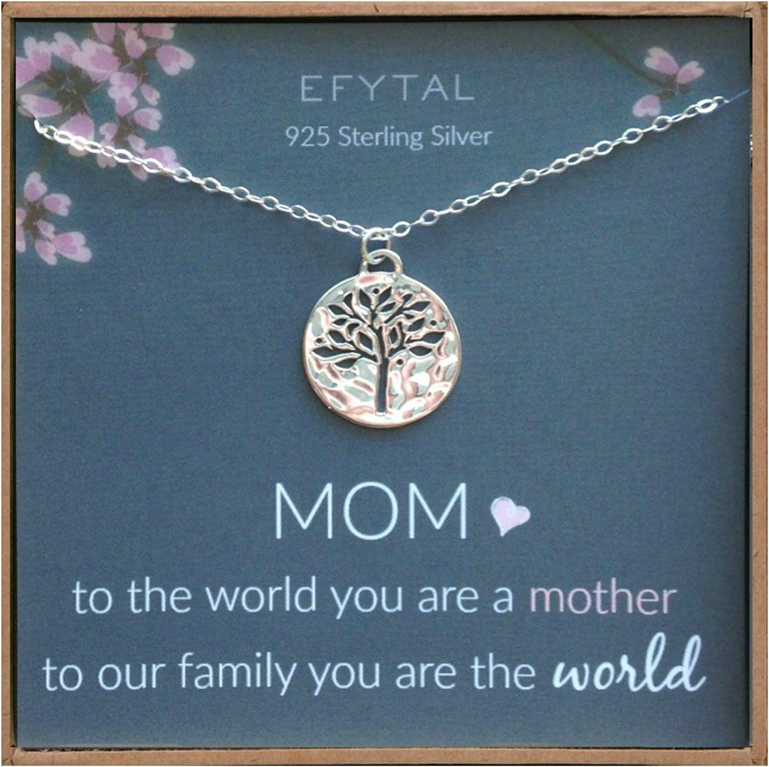 Family Tree Necklace,tree of life,Mother/'s day gift,Mother of the groom gift,mother in law gift,gift from bride to mom,custom message card