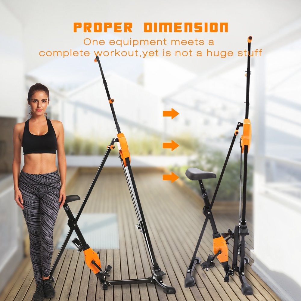 ANCHEER Vertical Climber Folding Exercise Climbing Machine, Exercise Equipment Climber for Home Gym, Exercise Bike for Home Body Trainer (Orange) by ANCHEER (Image #6)