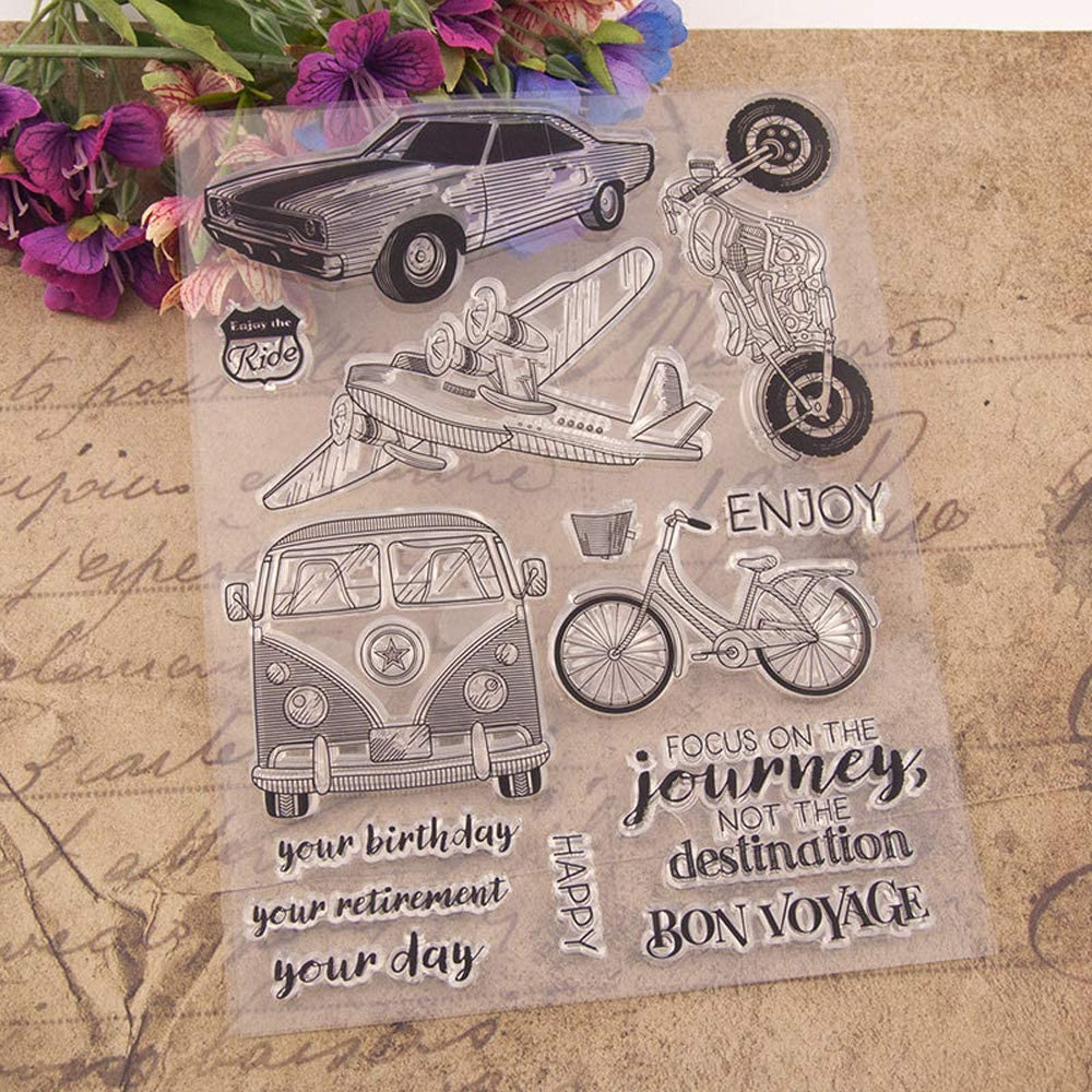 4.1 by 5.9 Inches Mom Daughter Father Boy Baby Friend Writing Stamps Family New Clear Rubber Stamps for Scrapbooking Card Making Christmas Stamps