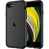 JETech Funda Compatible iPhone SE 2ª Generación, iPhone 8 iPhone 7, Anti- Choques y Anti- Arañazos, Negro