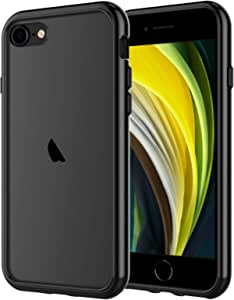 JETech Case for iPhone SE 2nd Generation, iPhone 8 and iPhone 7, 4.7-Inch, Shockproof Bumper Cover, Anti-Scratch Clear Back, Black