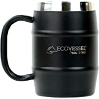 EcoVessel Double Barrel Double Wall Insulated Stainless Steel Beer and Coffee Mug