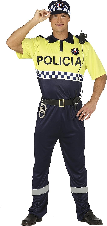Guirca- Disfraz adulto policía local, Talla 48-50 (88190.0) , color/modelo surtido: Amazon.es: Juguetes y juegos