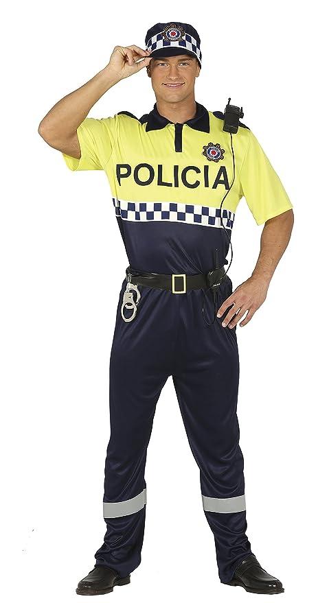 Guirca- Disfraz adulto policía local, Talla 48-50 (88190.0)