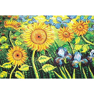 Voberry Puzzles for Adults 1000 Piece, Classic Jigsaw Puzzle Children Wooden Puzzle DIY Sunflower Flower Scenery Home Decor Festival Gift Intellectual Game Wall Art 29.53 x 19.69inch (Yellow): Toys & Games