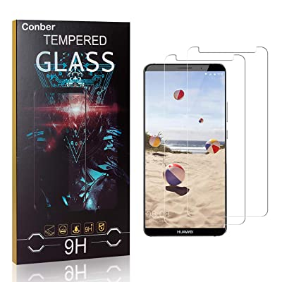 Conber Screen Protector for Huawei Mate 10 Pro, (2 Pack) 9H Tempered Glass Film Screen Protector for Huawei Mate 10 Pro [Scratch-Resistant][Shatterproof]: Baby