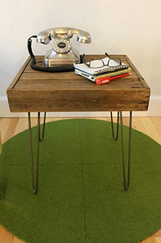 Reclaimed Wood Side Sofa Table on Hairpin Legs – The Eva
