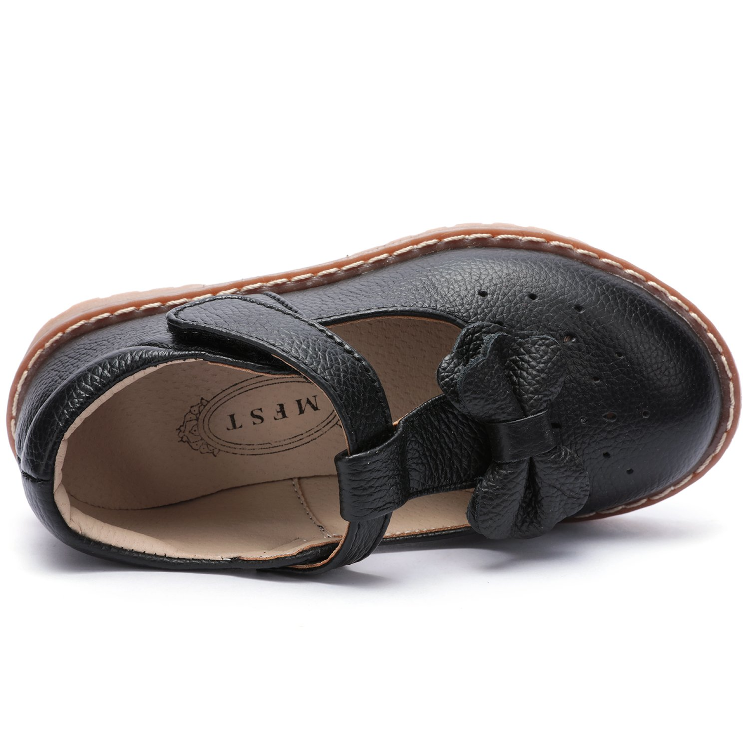 UBELLA Kids Toddler Girl's Retro T-Bar Princess Dress Shoes Leather Strap Mary Jane Flat Oxford Shoes by UBELLA (Image #3)