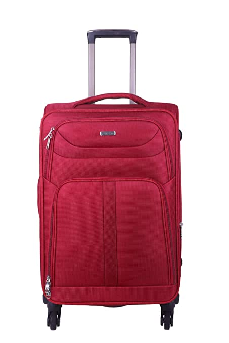 Times Bags 4TB4WS 20 Inch Nylon Fabric Red Cabin Luggage suitcases  amp; Trolley Bags