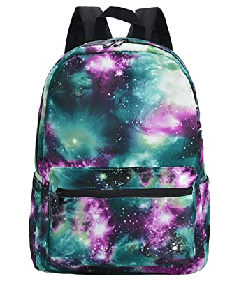 dab2af573af5 HotStyle TrendyMax Galaxy Pattern Vintage Style Unisex Fashion Casual  School Travel Laptop Backpack Rucksack Daypack Tablet Bags (green) (green)   ...