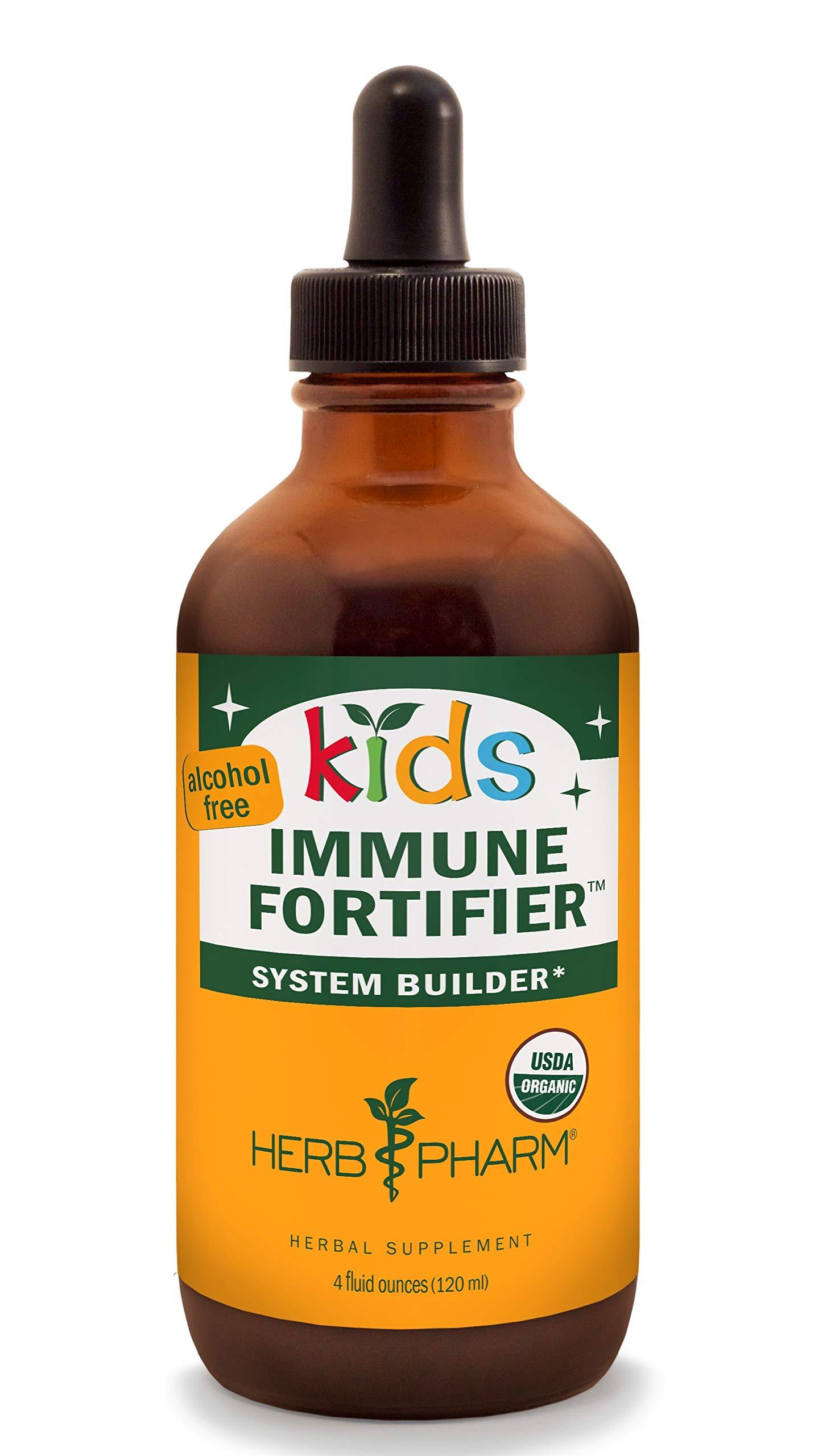 Herb Pharm Kids Certified-Organic Alcohol-Free Immune Fortifier Liquid Herbal Formula, 4 Ounce