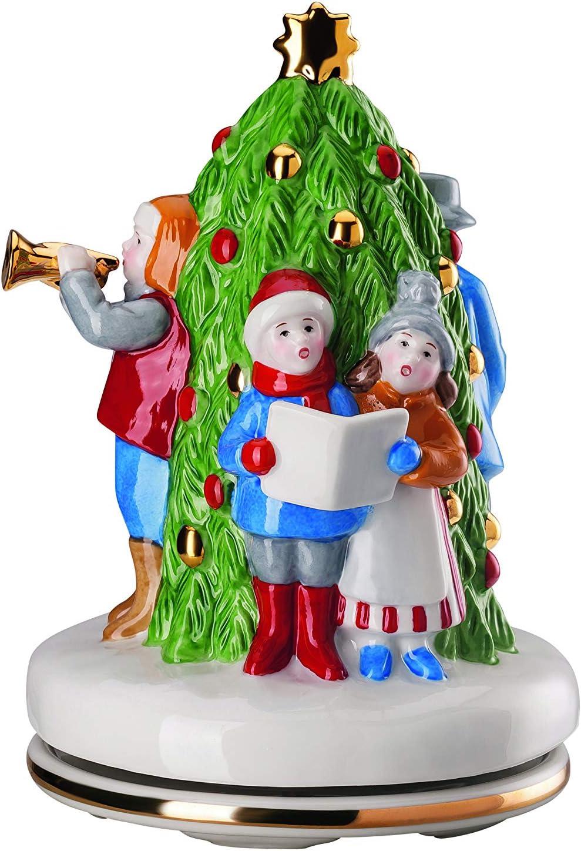 Hutschenreuther - Reloj de Navidad (edición Limitada a 999, diámetro: 12 cm, Altura: 17 cm, melodía: silencioso, de Porcelana), Multicolor