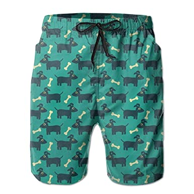 f777d71f74 Amazon.com  RAVIS Dog and Bone Custom Men Beach Shorts Outdoor Pants Swim  Trunks  Clothing