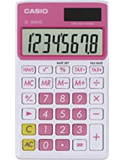 Casio SL-300VC-PK SL300VCPKSIH Solar Wallet Calculator with 8-Digit Display (Pink)