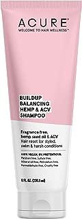 product image for ACURE Buildup Balancing Hemp & Apple Cider Vinegar Shampoo   100% Vegan   Resets & Balances Hair for Styled, Swim & Harsh Conditions   Fragrance Free Formula   8 Fl Oz