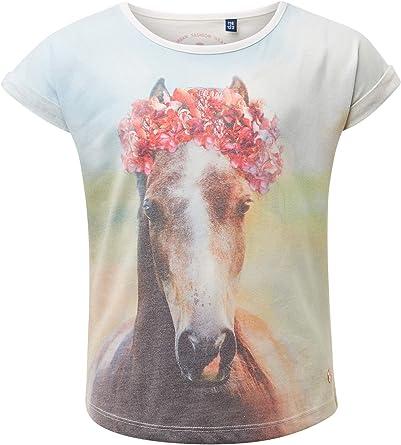 Tom Tailor - Camiseta para niña con impresión fotográfica Cloud Dancer|White 6/7 años: Amazon.es: Ropa y accesorios