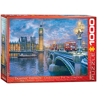 EuroGraphics Christmas Eve in London Puzzle (1000 Piece): Toys & Games