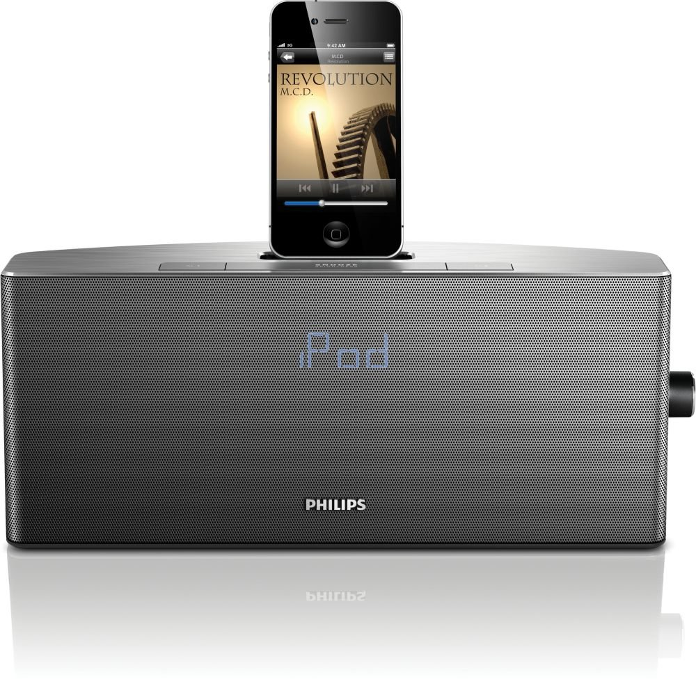Philips AJ7035D/37 App-enhanced Aluminum Docking System for iPod and iPhone (Discontinued by Manufacturer) Inc. - Portable TV