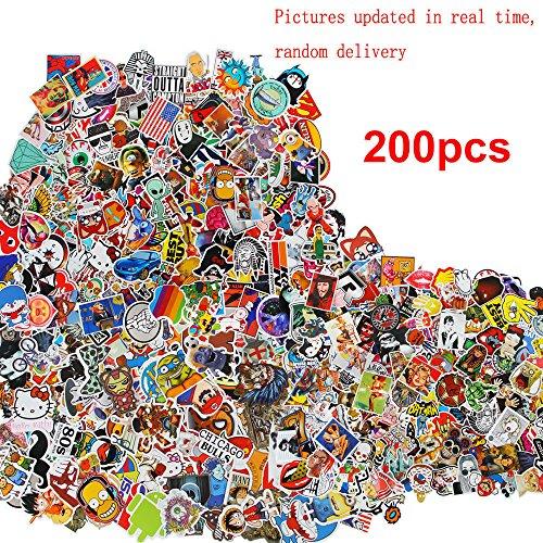 dolly2u 200 Random Cool Cute Stickers Skateboard Vinyl Sticker Laptop Luggage Car Decal