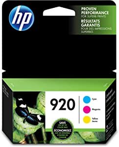 HP 920 | 3 Ink Cartridges | Cyan, Magenta, Yellow | CH634AN, CH635AN, CH636AN