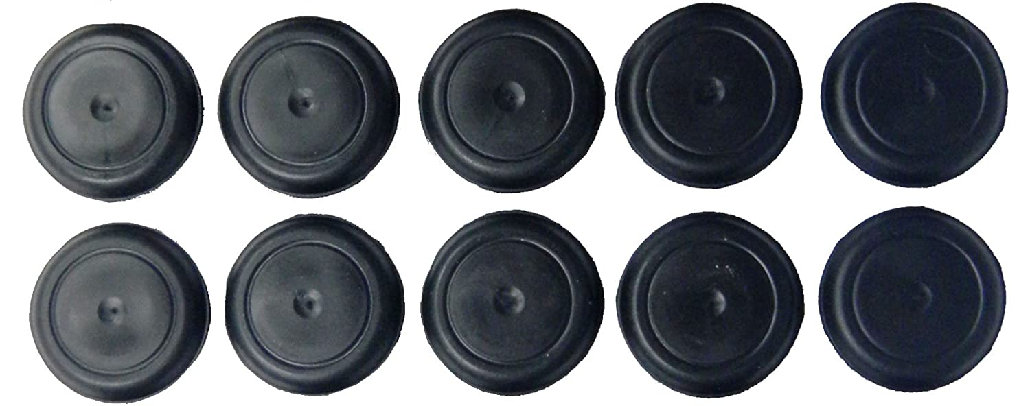 1 1/2' 1.5 inch Black Rubber Plugs for Flush Mount Body and Sheet Metal Holes Qty 10 Caplugs BPFE