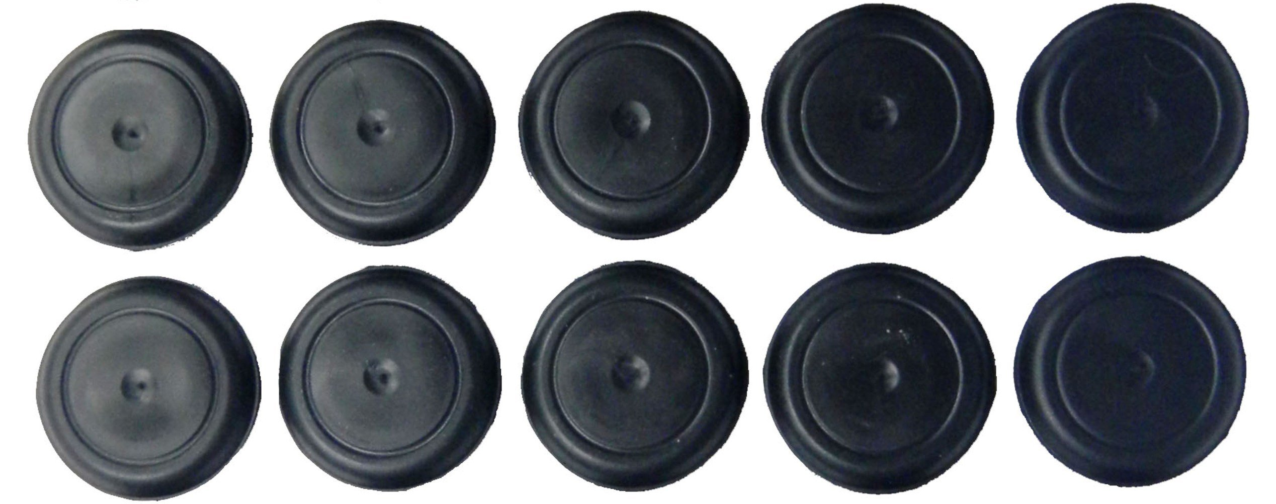 1 1/2'' 1.5 inch Black Rubber Plugs for Flush Mount Body and Sheet Metal Holes Qty 10