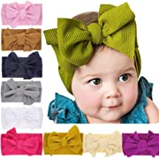 Baby Nylon Knotted Headbands Girls Head Wraps Newborn Infant Toddler Hairbands and Bows (Multicoloured ZLZL326)