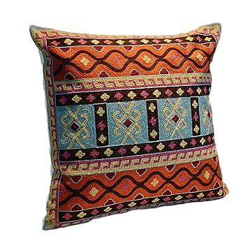 Amazon.com: Funda de almohada cuadrada de algodón suave ...