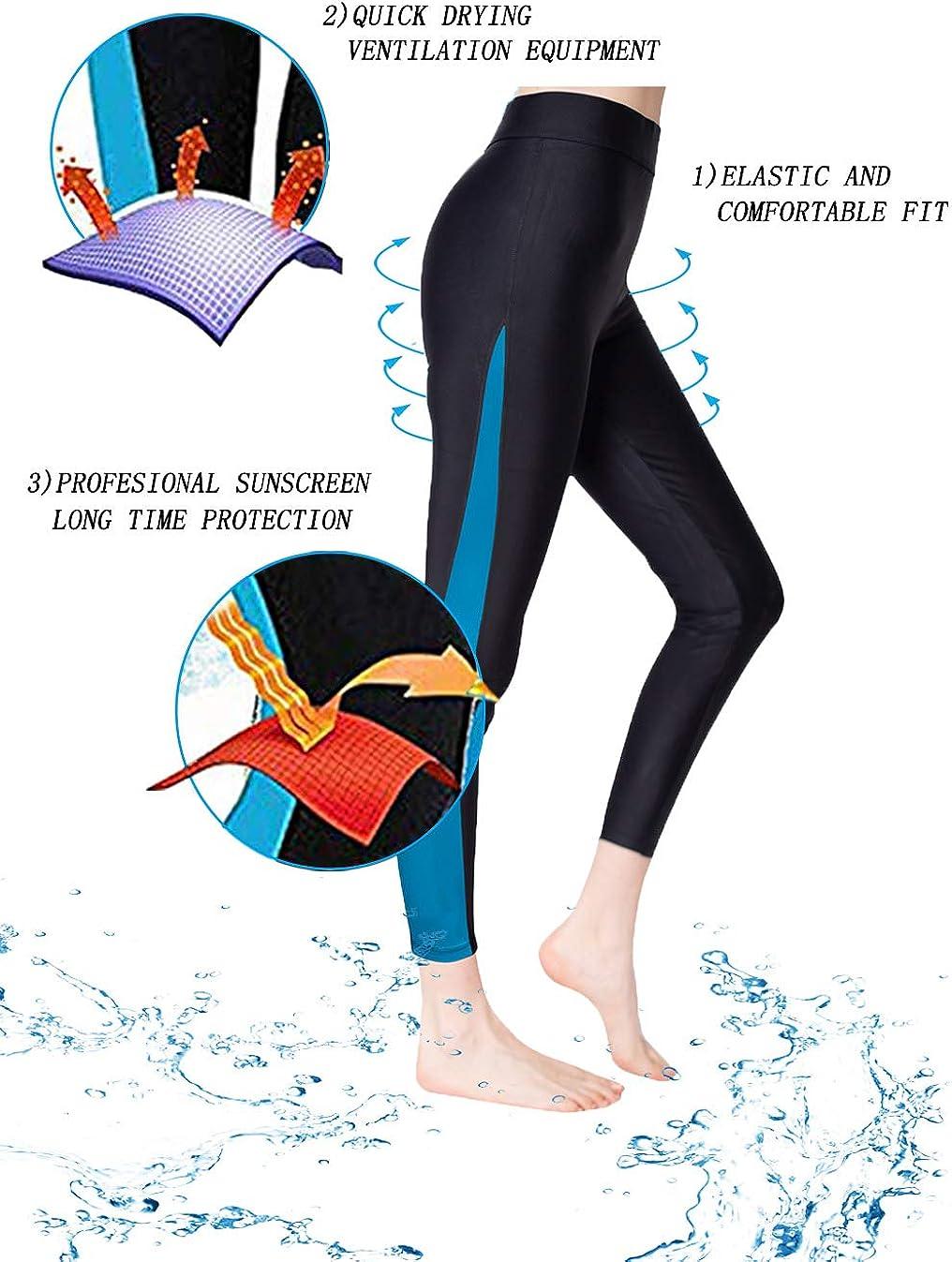 king sun exercise Womens Surfing Leggings Swimming Sport Tights UPF 50+Yoga Pants surfingpants Floating