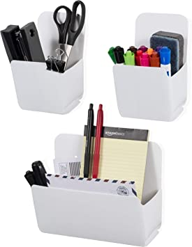 Wallniture Origami Wall File Folder and Magazine Wall Pocket Organizer for Classroom Recycled Plastic White Assembly Required Set of 3