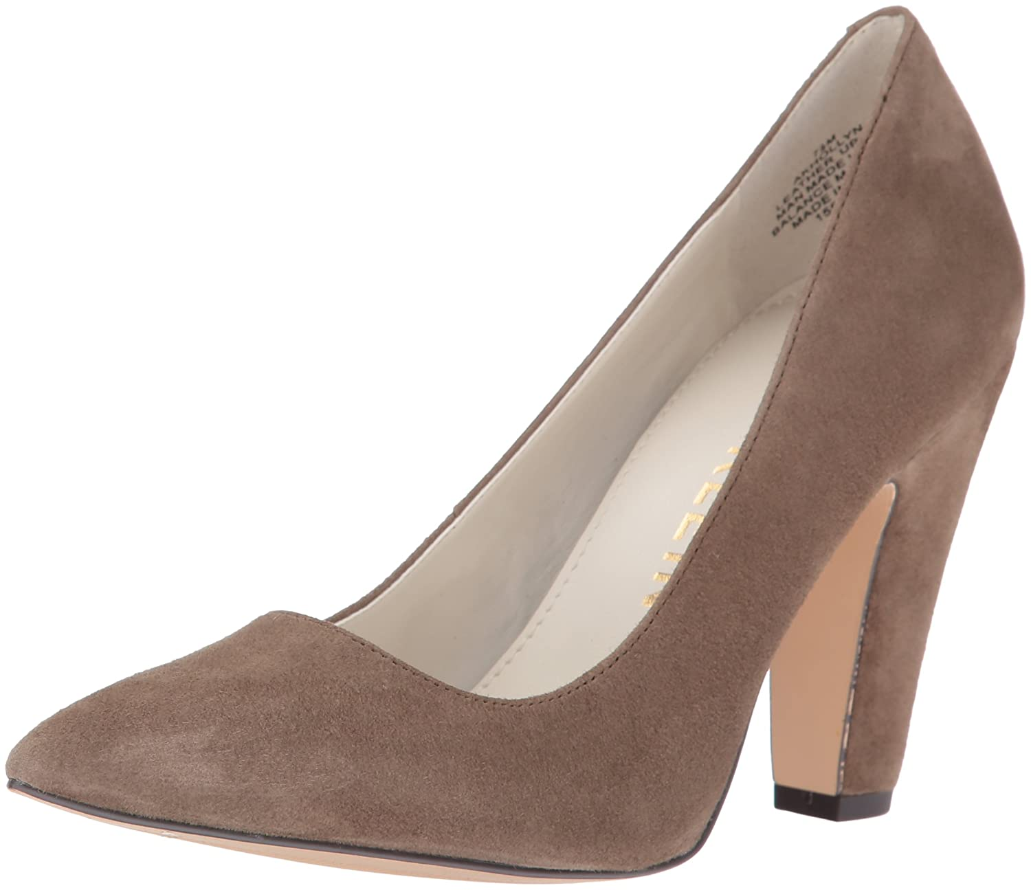 Anne Klein Women's Hollyn Suede Dress Pump B01KPAOK6E 8 B(M) US|Taupe