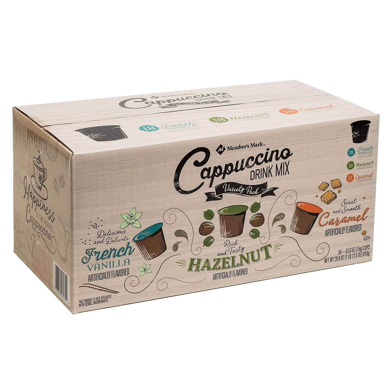 Member's Mark Cappuccino Drink Mix Variety Pack (54 X 0.53 OZ)Net wt (28.6 OZ), 28.6 oz