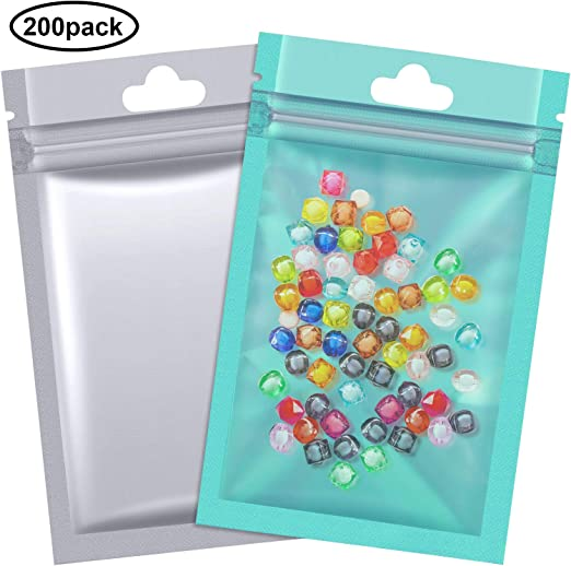 """400PC 3.5x5/"""" Gold Clear Star Hologram Ziplock Mylar Bags-Crafts Products Food"""